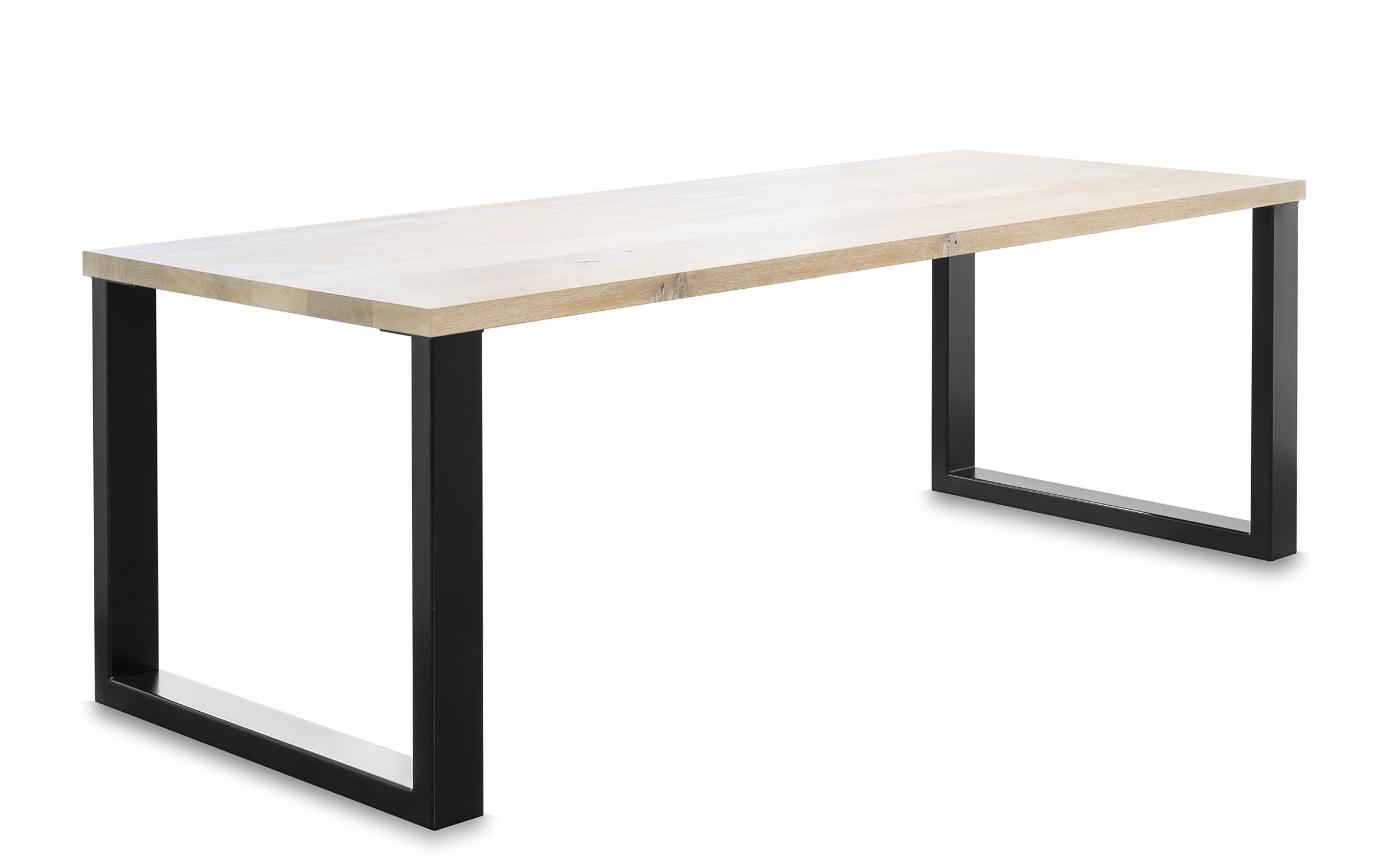Industriele tafel met eiken blad bert harmens for Hillen interieur